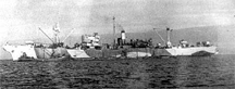 HMS Latimer during her first cable-laying run from Shanklin to Cherbourg