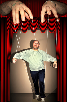 A human marionette