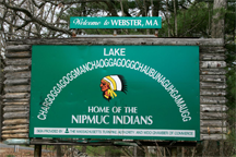 Lake Chaubunagungamaug sign
