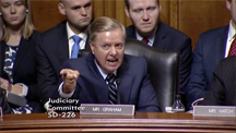 Senator Lindsey Graham (R-South Carolina) speaks at a recent Senate hearing
