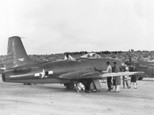 XP-80 prototype Lulu-Belle on the ground