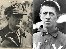 Gen. Douglas MacArthur (left) and Willie Keeler (right)
