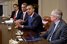 President Obama meets with Congressional leaders