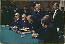 The signing of the Paris Peace Accords