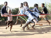 Six kids on a PlayPump