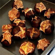 Roasted chestnuts. Can you smell their aroma?
