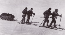 Captain Robert F. Scott and most of his team returning from the South Pole