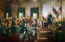 Signing the Constitution of the United States, 1787