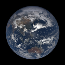 The planet Earth on planet Earth on April 17, 2019