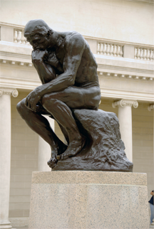 """The Thinker,"" by Auguste Rodin"