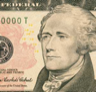 The portrait of Alexander Hamilton that appears on the U.S. 10-dollar note