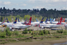 Boeing 737 MAX grounded aircraft near Boeing Field, April 2019