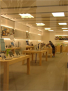 The interior of an Apple store, location unknown