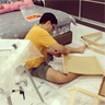 Assembling an IKEA chair