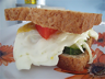 An egg sandwich