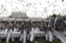 U.S. Military Academy graduates toss their hats during commencement ceremonies at West Point, New York, May 23, 2009