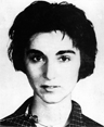 Kitty Genovese, in a mug shot created by the Queens, New York, police department after her arrest on a bookmaking charge in 1961