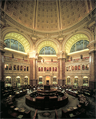 The main reading room of the US Library of Congress