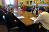 Senator Mark Warner (Democrat of Virginia) meets with mayors