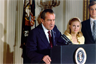 President Richard Nixon resigns
