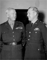 Gen. Patton and Gen. Weyland photographed at Nancy, France