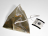 A pyramidal silk teabag of spiced black tea