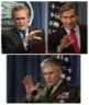 Gen. George Casey, Dep. Sec. Paul Wolfowitz, and Sec. Donald Rumsfeld