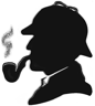 The silhouette of a famous fictional detective