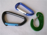 Three simple carabiners