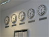 Multiple clocks, one for each time zone