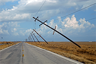 Power poles after Hurricane Rita, 2005