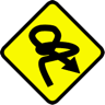A traffic sign warning of trouble ahead