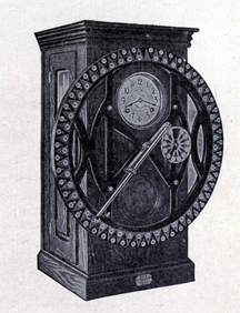 An old-fashioned punch clock