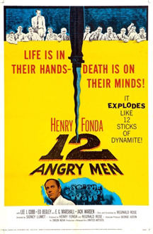 Promotional poster for the 1957 film Twelve Angry Men